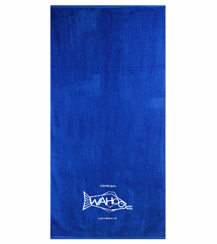 Wahoos Towel - Blue - Royal Comfort Terry Velour Beach Towel 32 X 64