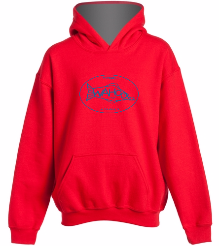 Wahoos Youth Hoodie - Red - SwimOutlet Youth Heavy Blend Hooded Sweatshirt