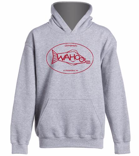 Wahoos  Hoodie -Grey- - SwimOutlet Youth Heavy Blend Hooded Sweatshirt