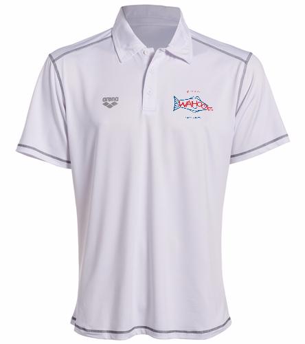 Wahoos Sports Polo - White - Arena Camshaft USA Unisex Polo Shirt