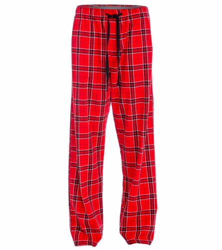 Custom Red - SwimOutlet Unisex Flannel Plaid Pant
