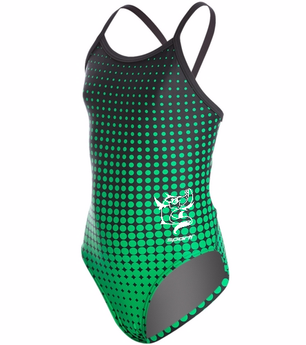WPST Youth - Sporti Molecule Thin Strap One Piece Swimsuit Youth (22-28)