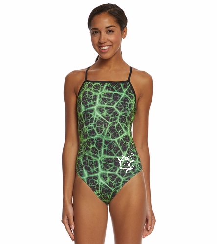 WPST Adult - Sporti Polyester Shockwave Thin Strap One Piece Swimsuit