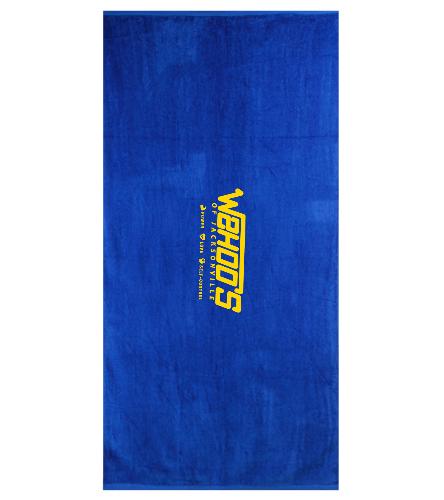 WOJ  - Royal Comfort Terry Velour Beach Towel 32 X 64