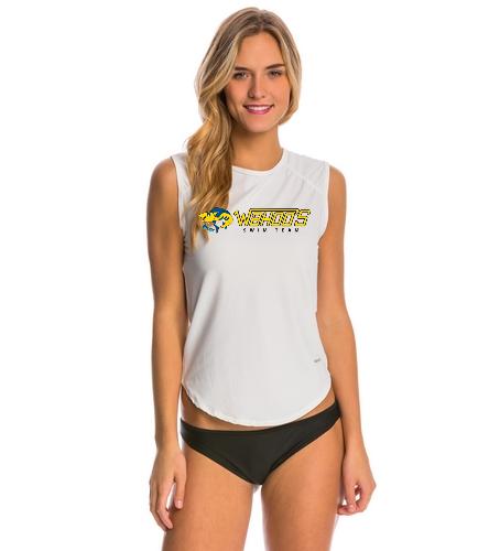 Wahoo's - Sporti Women's Solid Sleeveless UPF 50+ Sport Fit Rash Guard