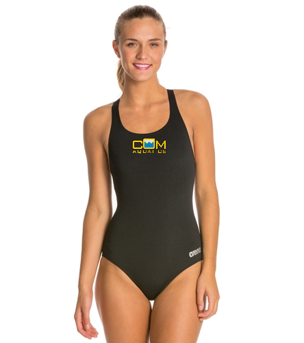 girls team suit option 3 - Arena Madison MaxLife Athletic Thick Strap Racer Back One Piece Swimsuit