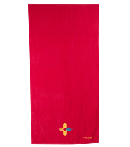 New Mexico Swimming SwimZia Towel Red - Royal Comfort Terry Velour Beach Towel 32 X 64