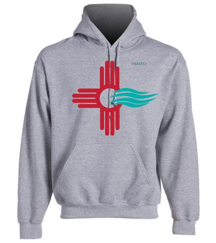 NMS Logo Gray Hoodie  - SwimOutlet Heavy Blend Unisex Adult Hooded Sweatshirt