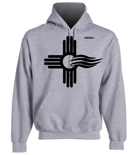 NMS BK Logo Gray Hoodie - SwimOutlet Heavy Blend Unisex Adult Hooded Sweatshirt