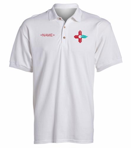 New Mexico Swimming  - SwimOutlet Ultra Cotton Adult Men's Pique Sport Shirt