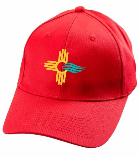 New Mexico Swimming SwimZia Cap - SwimOutlet Unisex Performance Twill Cap