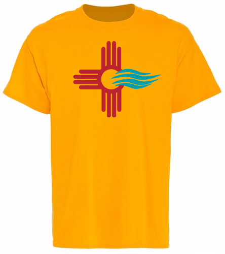 New Mexico Swimming  - SwimOutlet Unisex Cotton T-Shirt - Brights
