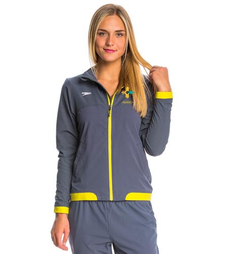Women's Yellow NMS Warm Up - Speedo Women's Tech Warm Up Jacket