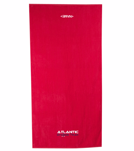Atlantic Diving Team - Royal Comfort Terry Velour Beach Towel 32 X 64