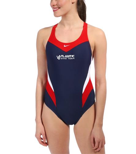 Team Suit - Nike Swim Women's Victory Color Block Power Back Tank One Piece Swimsuit