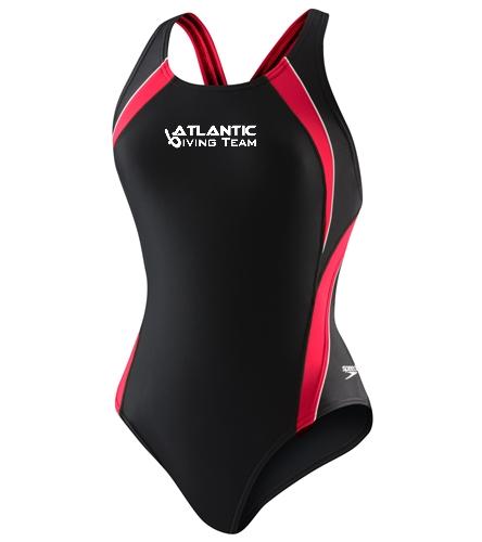 Team Youth - Speedo PowerFLEX Eco Taper Splice Pulse Back Youth Swimsuit