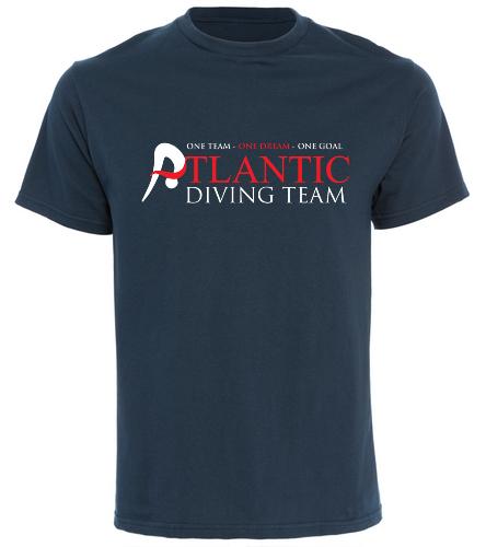 ADT_Navy_shirt - SwimOutlet Cotton Unisex Short Sleeve T-Shirt