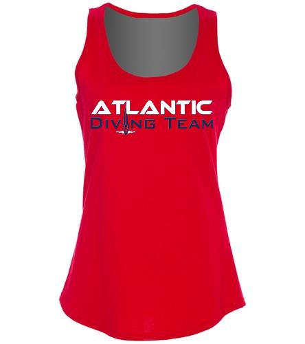 Atlantic Diving Team tt1 -  Ladies 5.4-oz 100% Cotton Tank Top