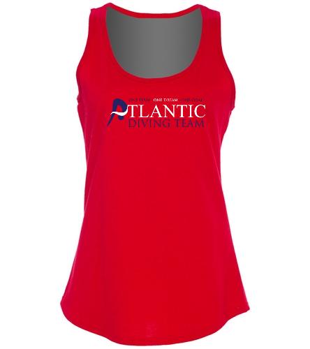 ADT_Red_tank_top - SwimOutlet Women's Cotton Racerback Tank Top