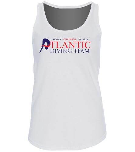 ADT_White_tank_top - SwimOutlet Women's Cotton Racerback Tank Top