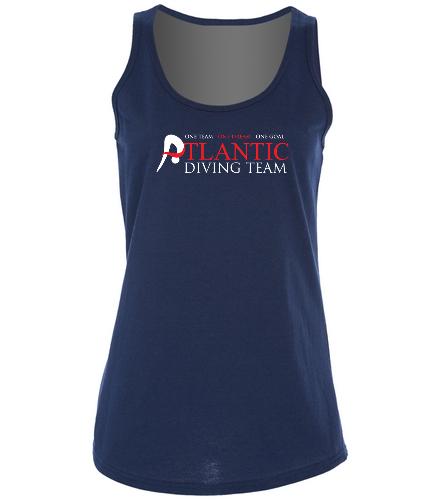 ADT_Navy_tank_top - SwimOutlet Women's Cotton Racerback Tank Top
