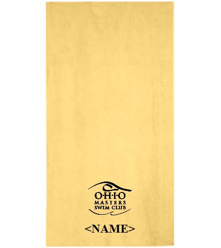 Team Towel - Yellow - Royal Comfort Terry Velour Beach Towel 32 X 64