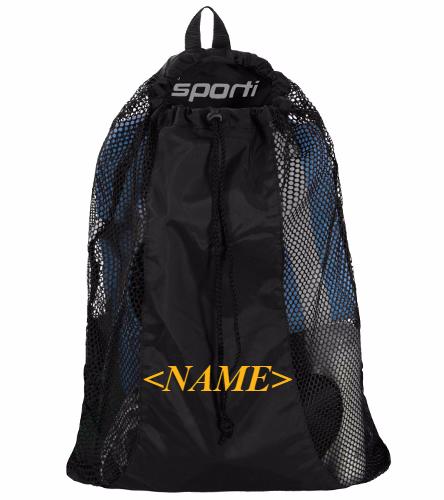 Mesh Equipment Bag - Black - Sporti Premium Mesh Bag