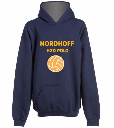 H20 SWEAT SHIRT NAVY - SwimOutlet Youth Heavy Blend Hooded Sweatshirt