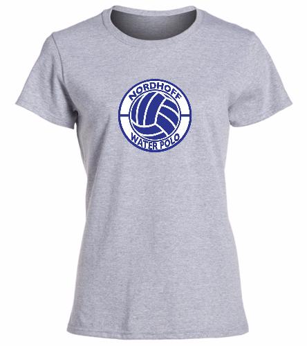LADY'S GRAY H20 POLO - SwimOutlet Women's Cotton Missy Fit T-Shirt