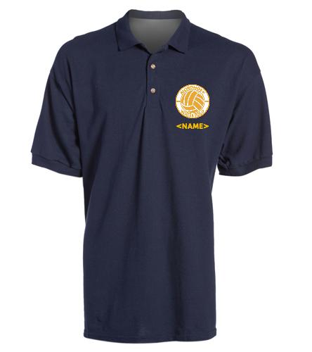 NAVY MEN'S POLO - SwimOutlet Ultra Cotton Adult Men's Pique Sport Shirt