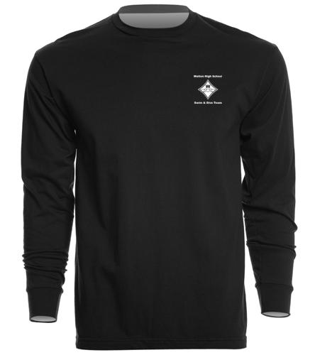 Walton Swim & Dive White Heat Press Diamond Logo - SwimOutlet Unisex Long Sleeve Crew/Cuff