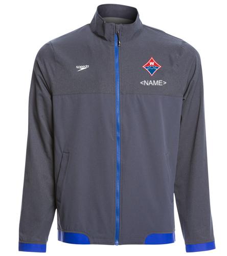 Official Walton Diamond Logo w/ Athlete Name Embroidered  - Speedo Men's Tech Warm Up Jacket