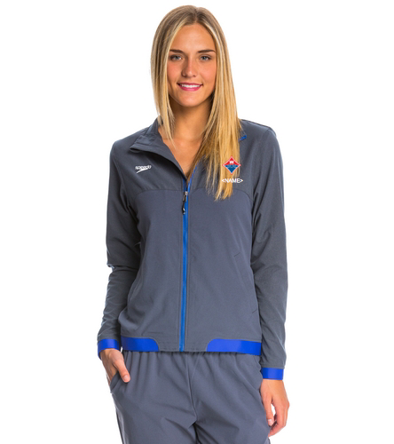Official Walton Diamond Logo Logo Embroidered w/ Athlete Name - Speedo Women's Tech Warm Up Jacket