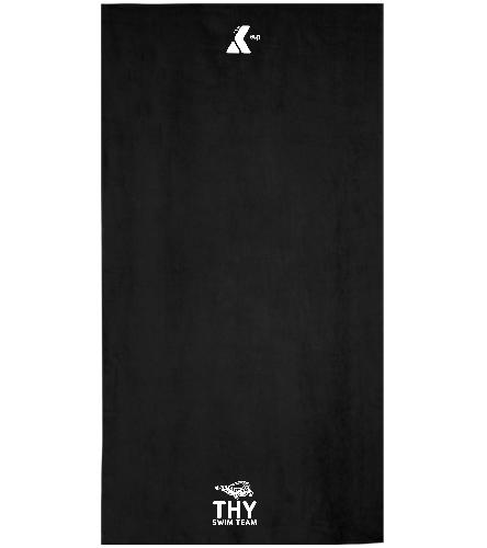 THY Black  - Royal Comfort Terry Velour Beach Towel 32 X 64