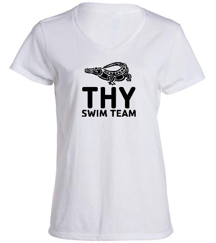 THY - SwimOutlet Women's Cotton V-Neck T-Shirt