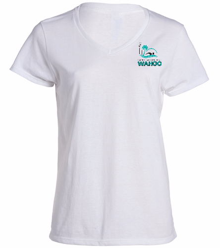 PBM White - SwimOutlet Women's Cotton V-Neck T-Shirt