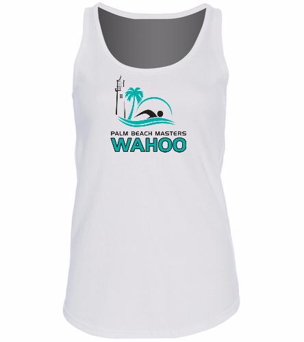 PBM White - SwimOutlet Women's Cotton Racerback Tank Top