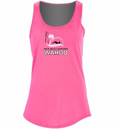 PBM Pink - SwimOutlet Women's Cotton Tank Top - Brights