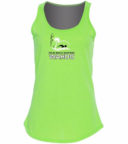 PBM Neon Green - SwimOutlet Women's Cotton Tank Top - Brights