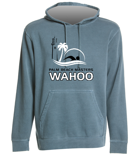 Wahoo Blue Hoody - SwimOutlet Unisex Midweight Pigment Dyed Hooded Sweatshirt