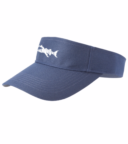 Visor Logo 1 - SwimOutlet Custom Cotton Twill Visor