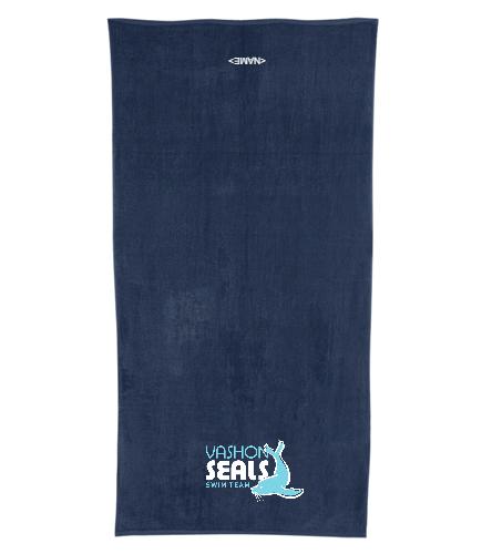 Vashon Seals - Royal Comfort Terry Velour Beach Towel 32 X 64