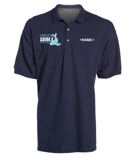 Vashon Seals - SwimOutlet Ultra Cotton Adult Men's Pique Sport Shirt