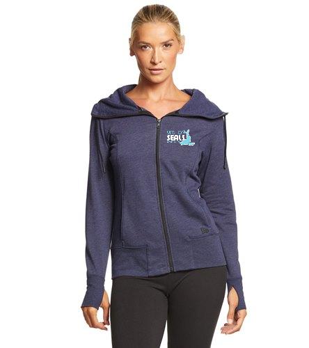Vashon Seals  - SwimOutlet New Era® Women's Tri-Blend Fleece Full-Zip Hoodie