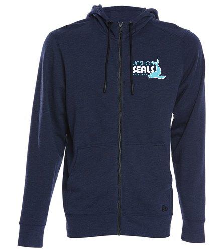 Vashon Seals - SwimOutlet New Era® Tri-Blend Fleece Full-Zip Hoodie