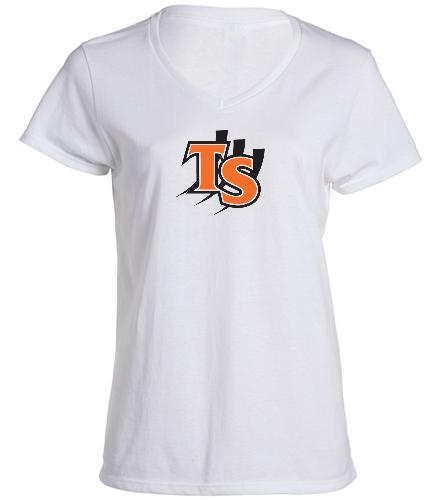 TS ladies v-neck shirt - SwimOutlet Women's Cotton V-Neck T-Shirt