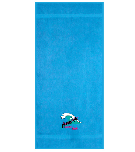 HSC Turquoise beach towel - Royal Comfort Terry Cotton Beach Towel 32 x 64