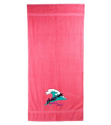 HSC Neon Pink beach towel - Royal Comfort Terry Cotton Beach Towel 32 x 64