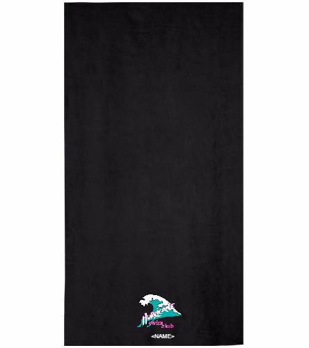 Hurricane Black - Royal Comfort Terry Velour Beach Towel 32 X 64
