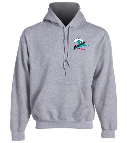 Adult gray hooded sweatshirt - SwimOutlet Heavy Blend Unisex Adult Hooded Sweatshirt